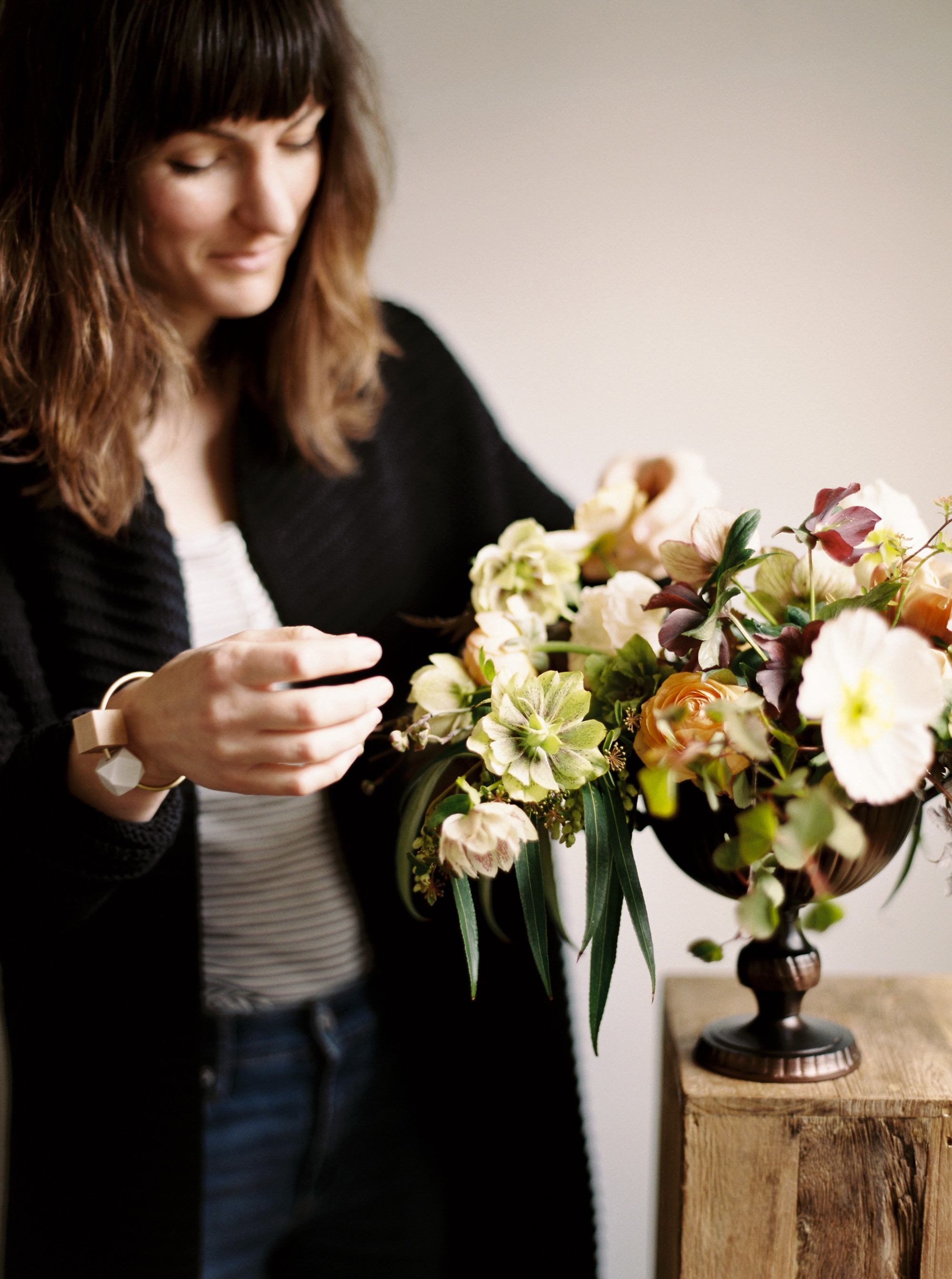 Hi there. - I'm Katie,a Seattle-based floral designer and maker of things, bringing a design-obsessed eye to local and seasonal blooms. I love color, texture, big installations, modern lines, wearable flowers and doing something different. Currently, I'm available for weddings, events and editorial work.My love for design, craft and the natural world serendipitously converged in 2014 when I took up a floral assistant side gig while working in the nonprofit sector--flowers and I have been going steady ever since. While my personal favorites are scabiosa and black hellebore--I'm also a proud member of the #carnationappreciationsociety and encourage you to give Chabauds a chance.I live in Seattle's Capitol Hill neighborhood with my dog Lou and too many houseplants. By day, I manage an in-house creative team at a Seattle-based online retailer.Permanently on call to flower RiRi + Drake's wedding.