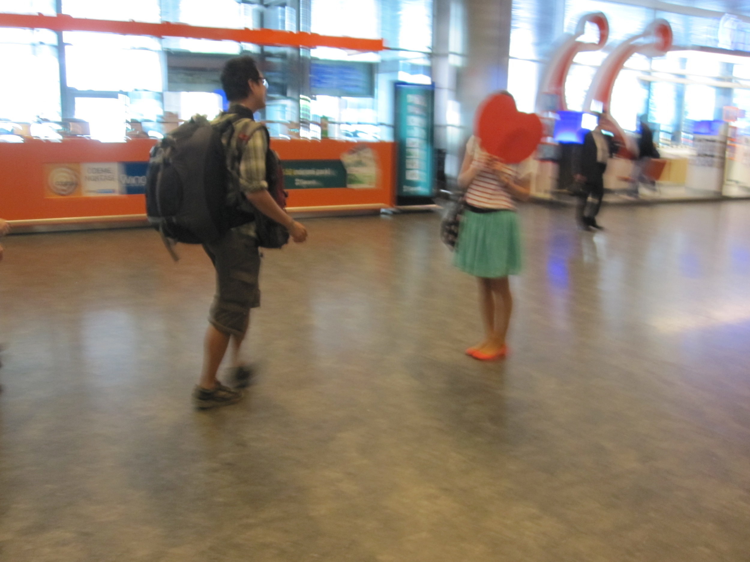 A blurry photo from the very first time I picked up Henry form Istanbul airport with a big