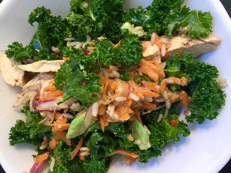 Chicken Kale Summer Salad
