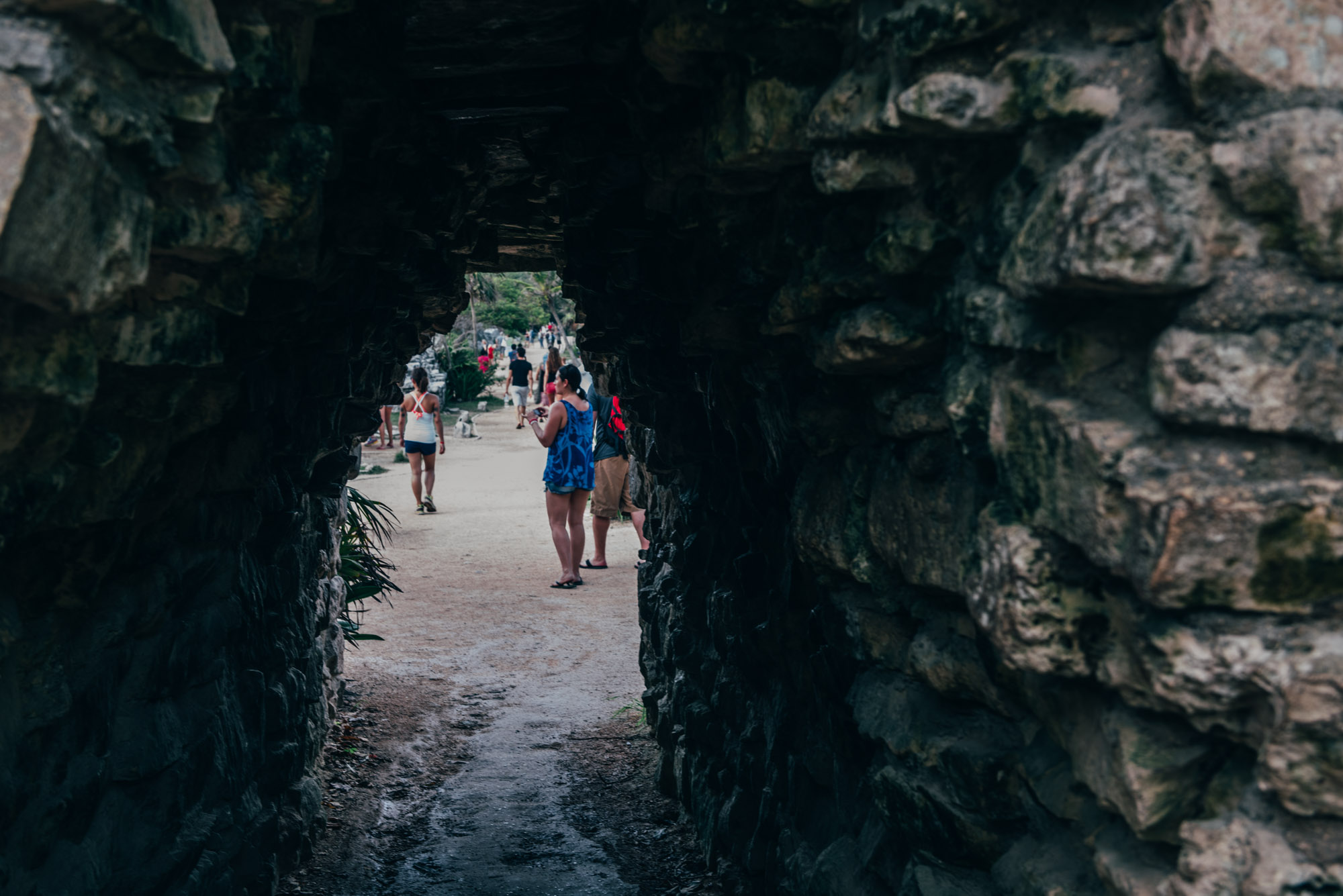 Looking through the tunnel