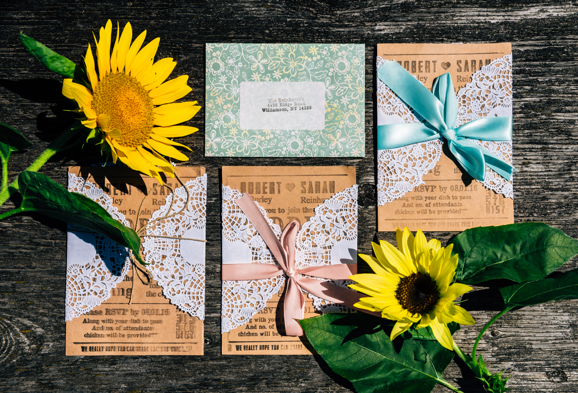 Invitations with Sunflowers