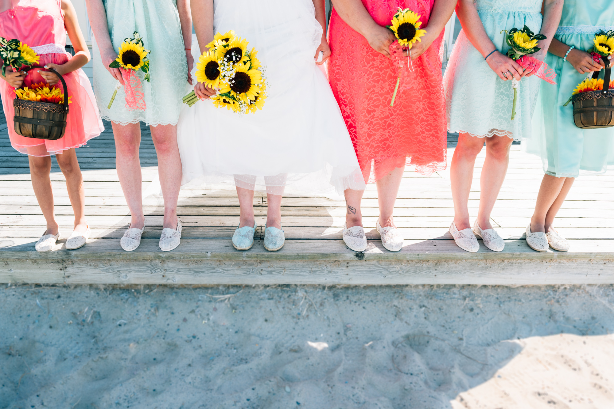 Bridal party's shoes