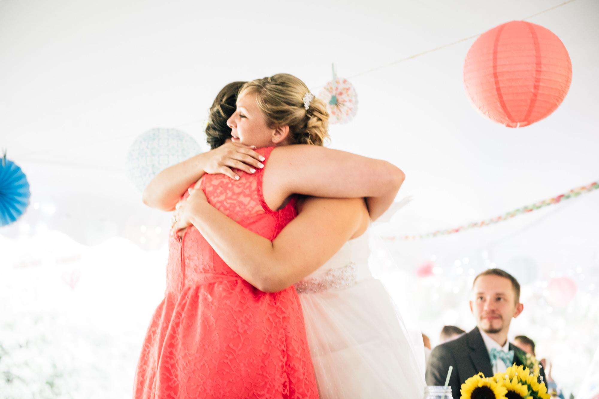 Sister hug