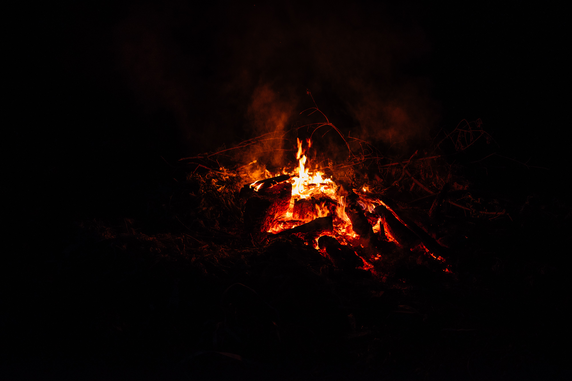 Dimming bonfire