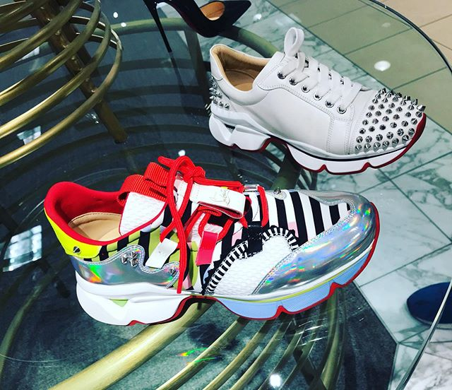 If we gonna run this town best do it in these #louboutin #louboutinsneakers #runthistown