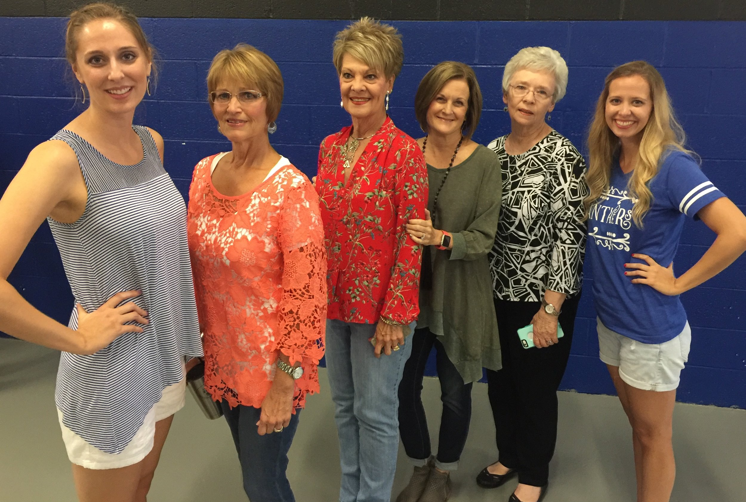 Sweet coaches'daughters and wives!