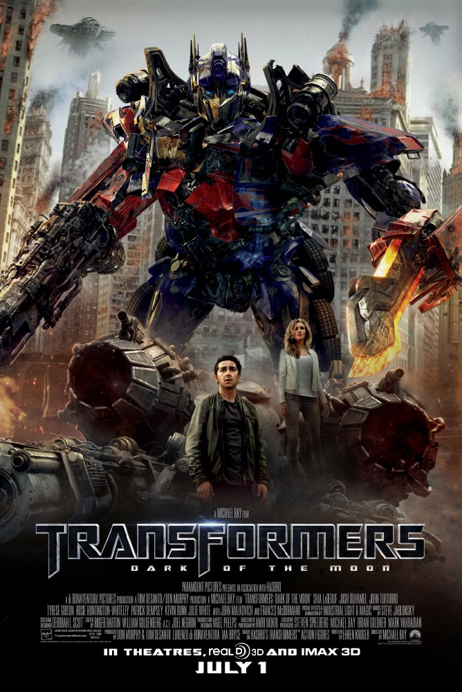 Transformers: Dark of the Moon  (2011) Directed by Michael Bay Additional Music by Andrew Kawczynski