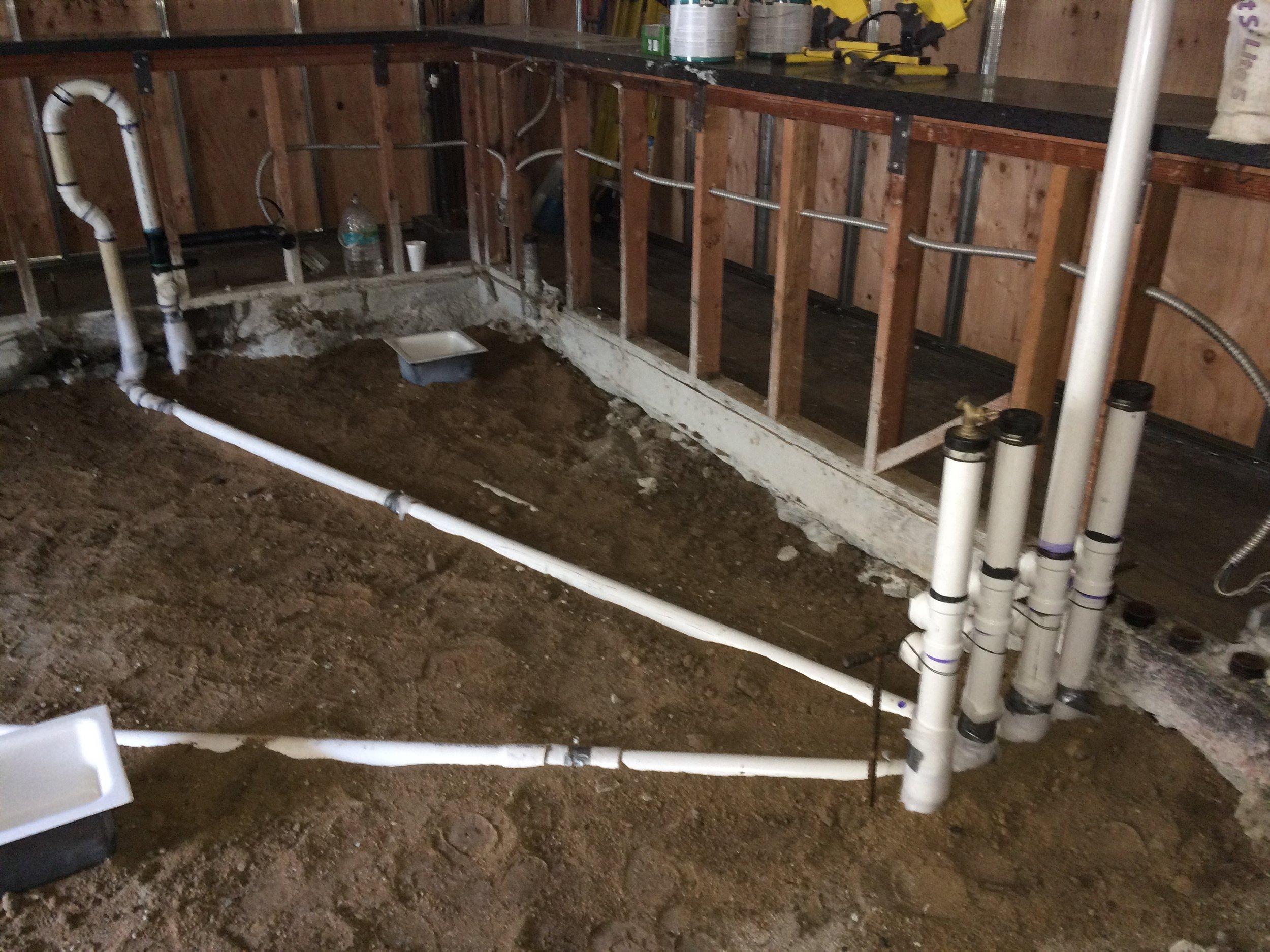 New plumbing.