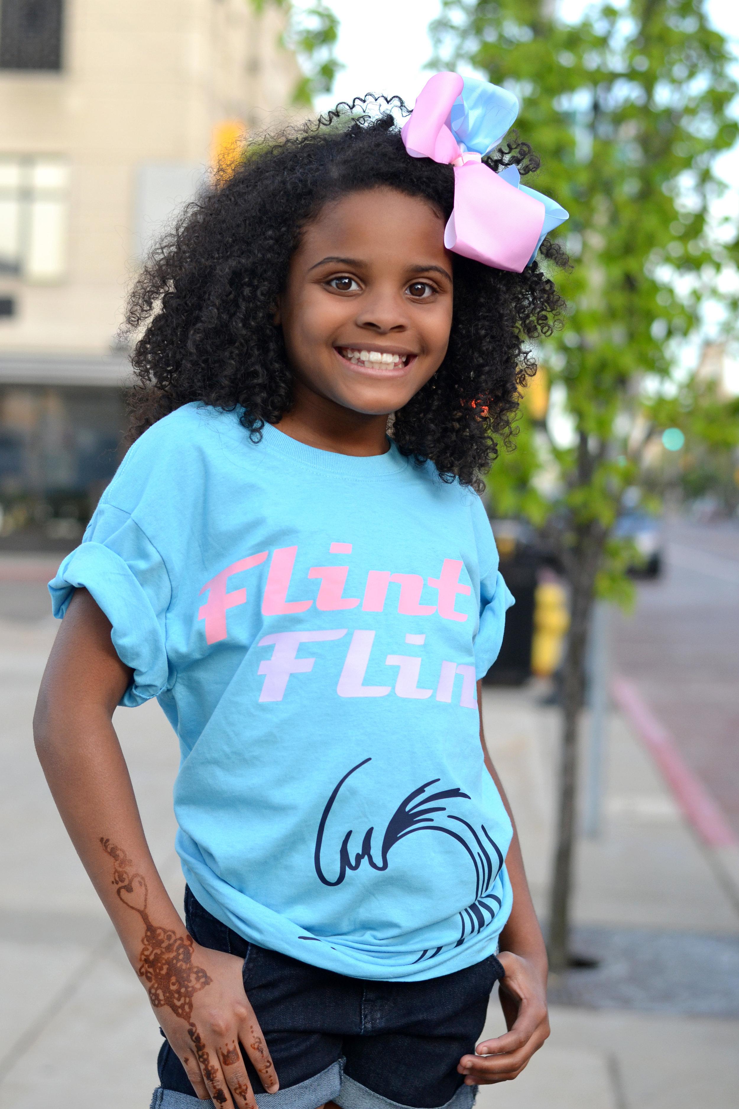Little Ms. Flint - Mari Copeny rocking our wavy Flint Tour T