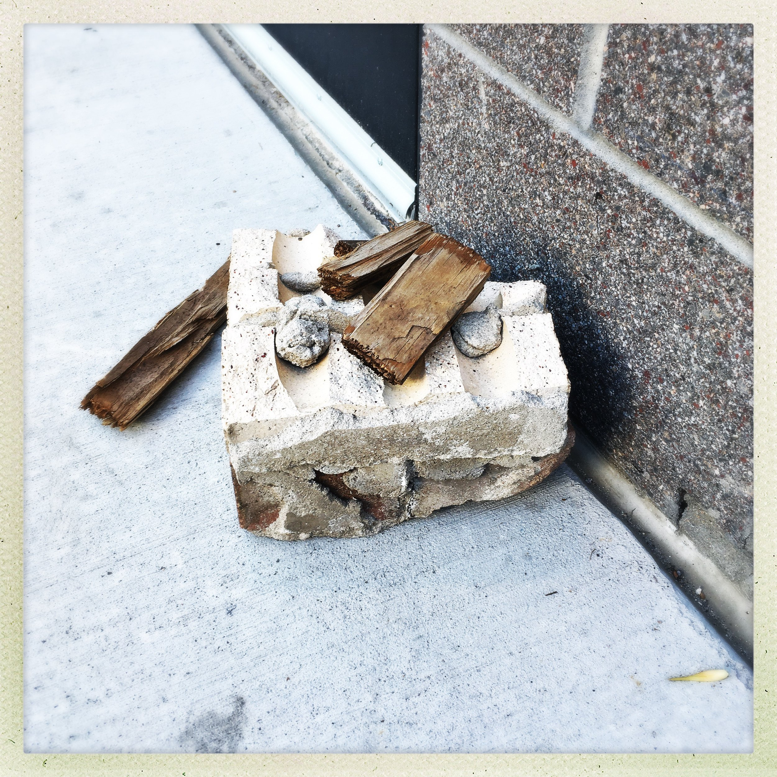 incidental composition: makeshift doorstops