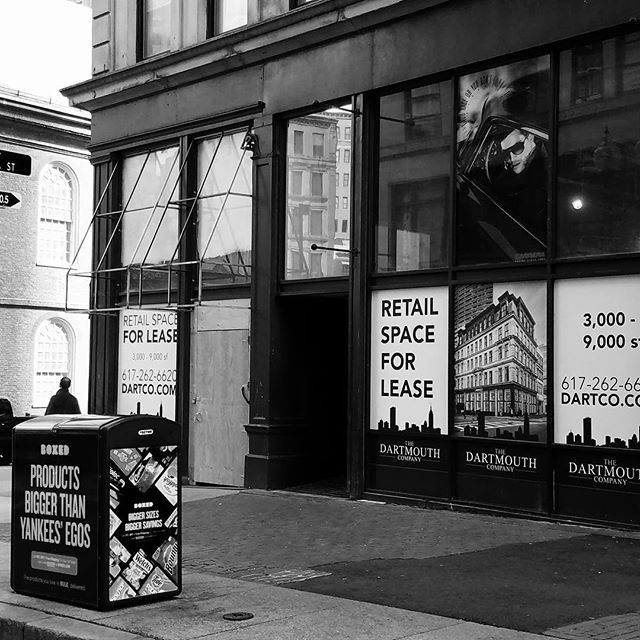 #DarkStorefrontsMA seen in #DowntownCrossing today. #DTC #retail
