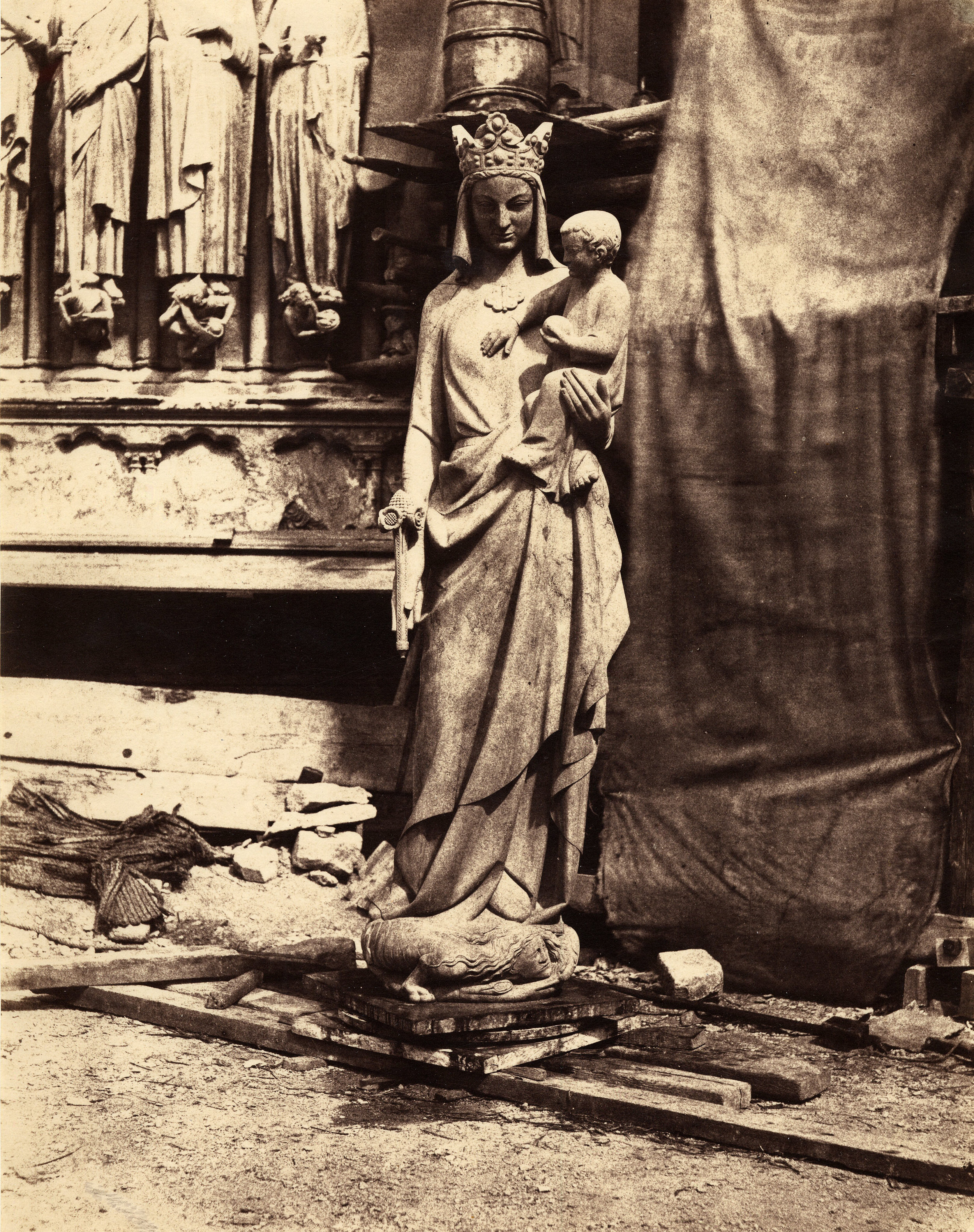 Auguste_Mestral,_Sculpture_of_Virgin_and_Child,_Notre_Dame,_Paris,_ca._1851.jpg