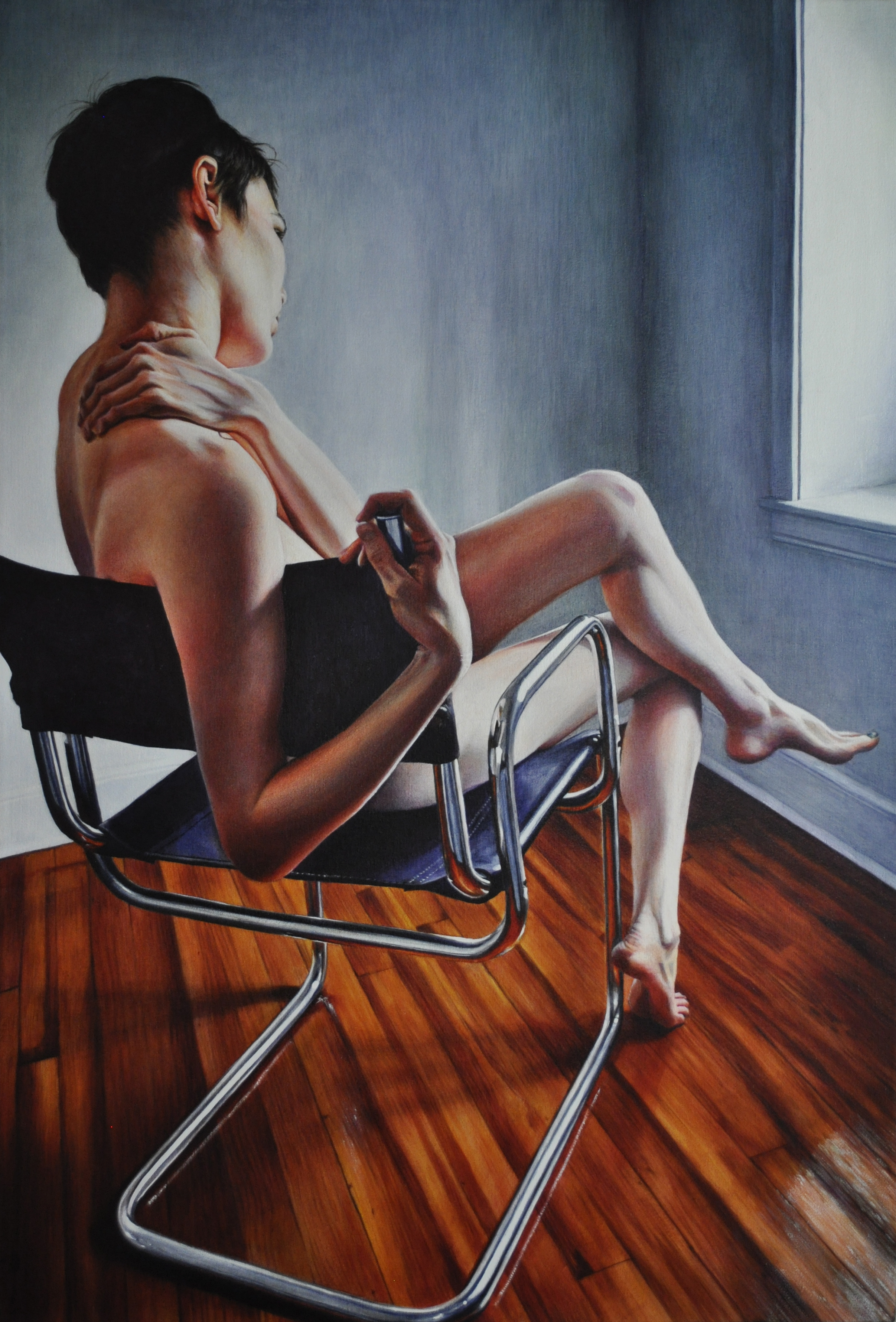 Victoria Selbech Wicked Nurse of the West Acrylic on Canvas 50 x 34