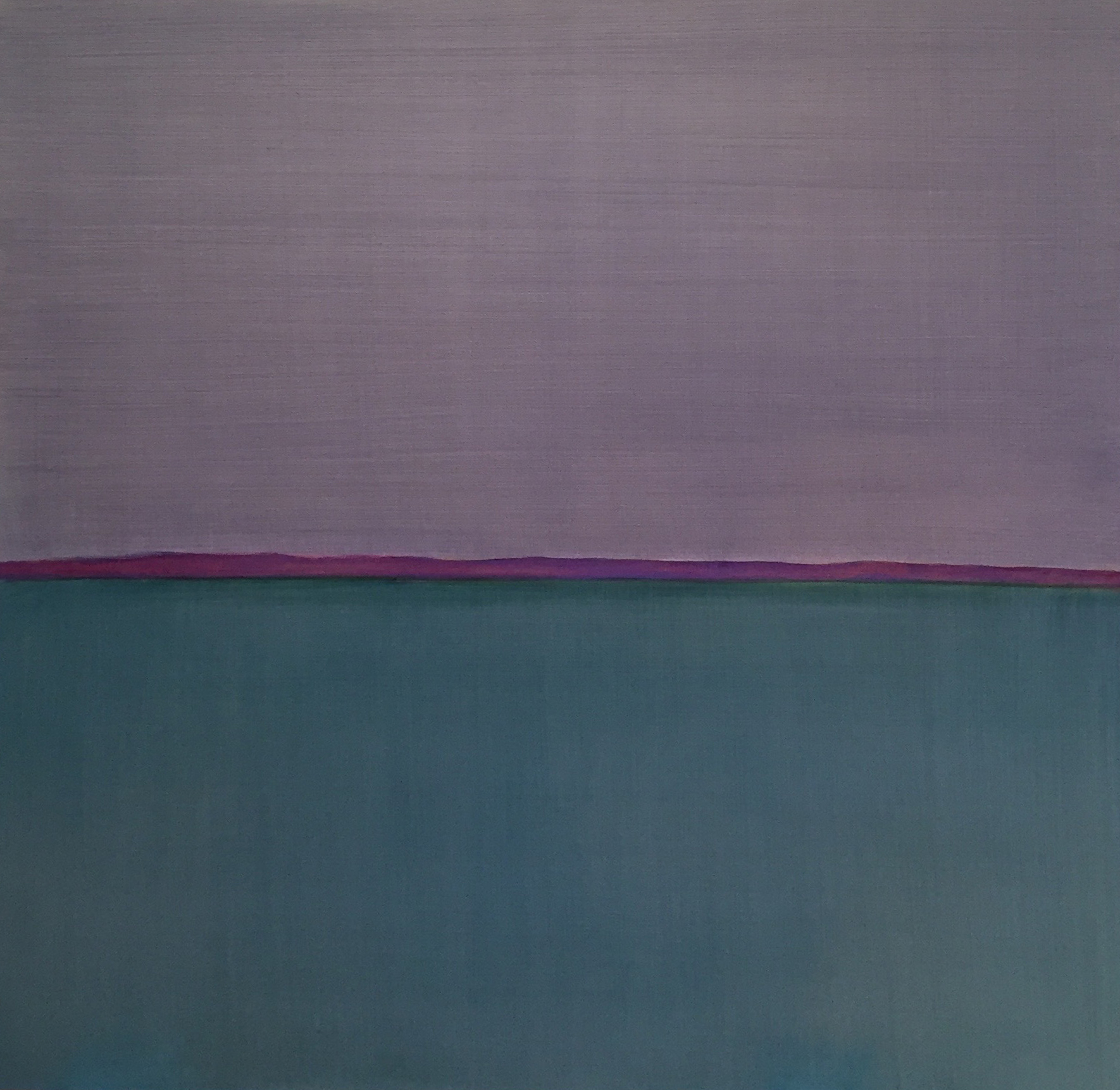 Blue Field July 10th 2016 Oil on canvas 42 x 38 inches #4097