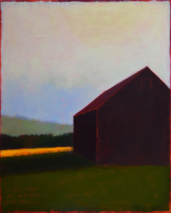 "Black Barn  20 x 16"" Oil on Canvas 2017"