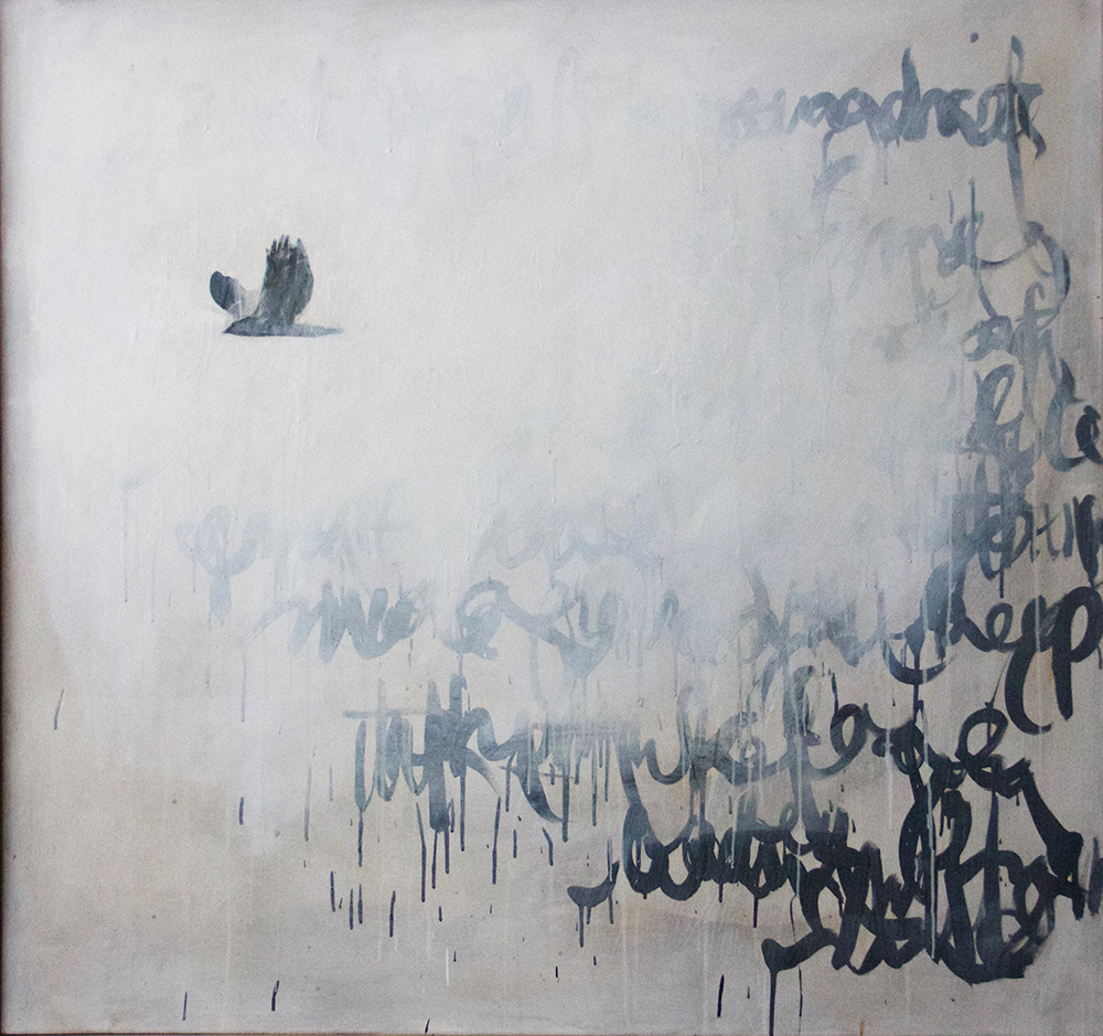Untitled #3 Oil on Wood Board 56 x 50""