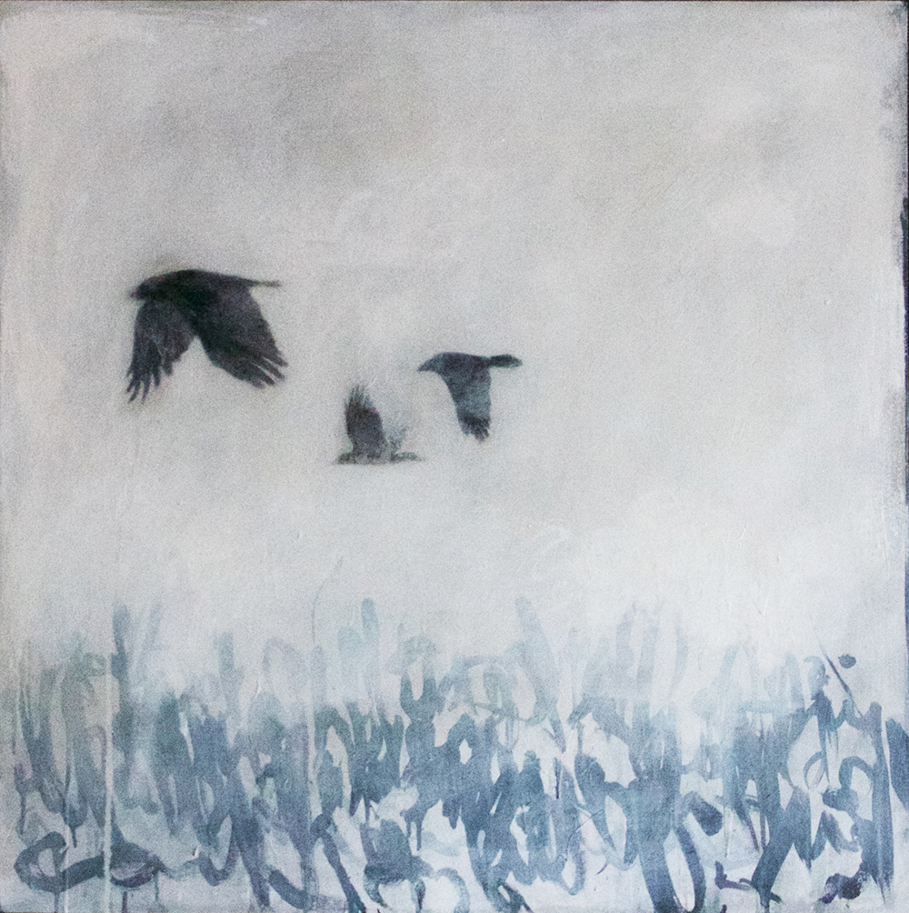 Untitled #7 Oil on Wood Panel 41 x 41""