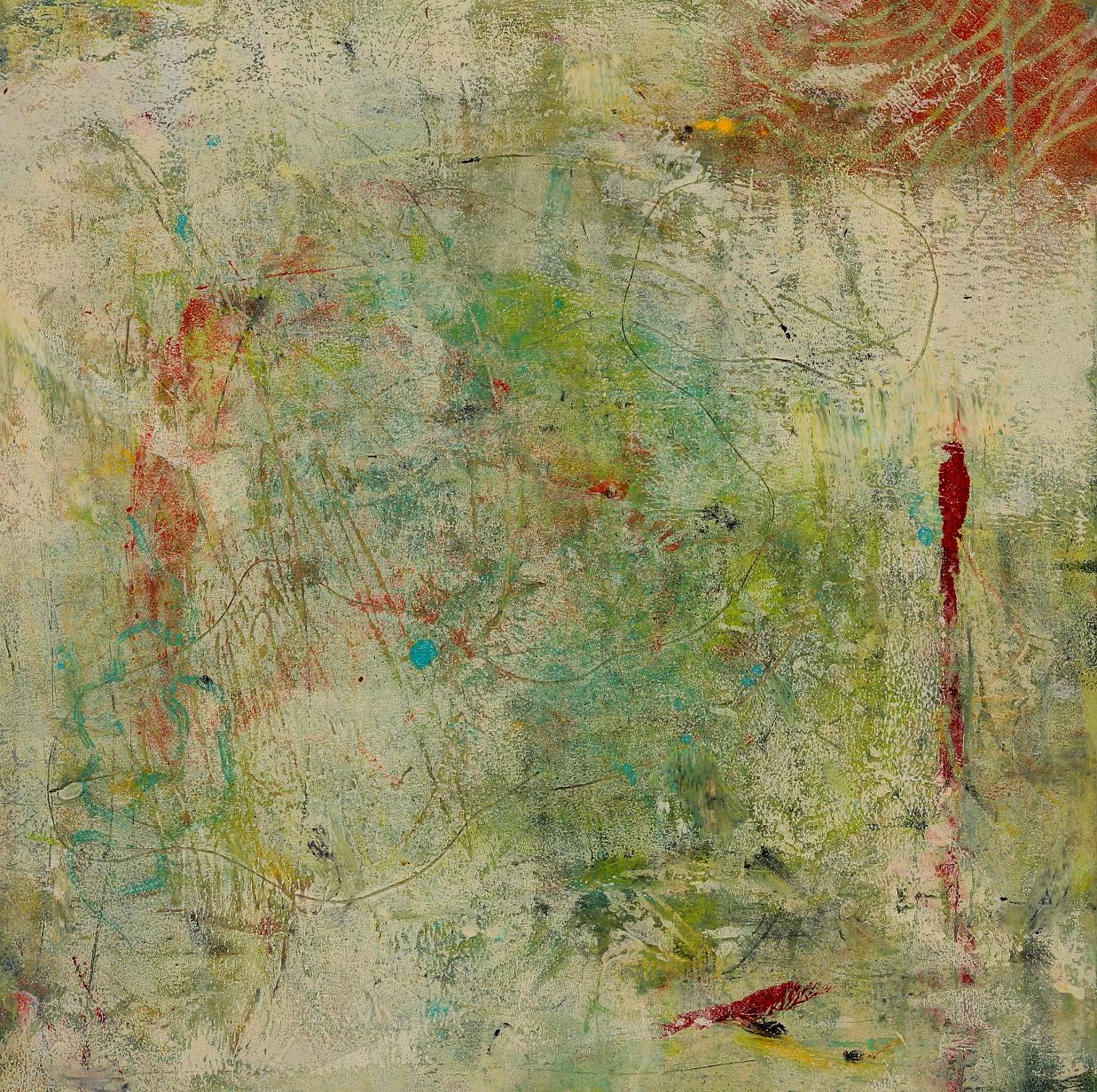 "Patina, 2015, oil, wax, mixed media on panel, 12 x 12"""