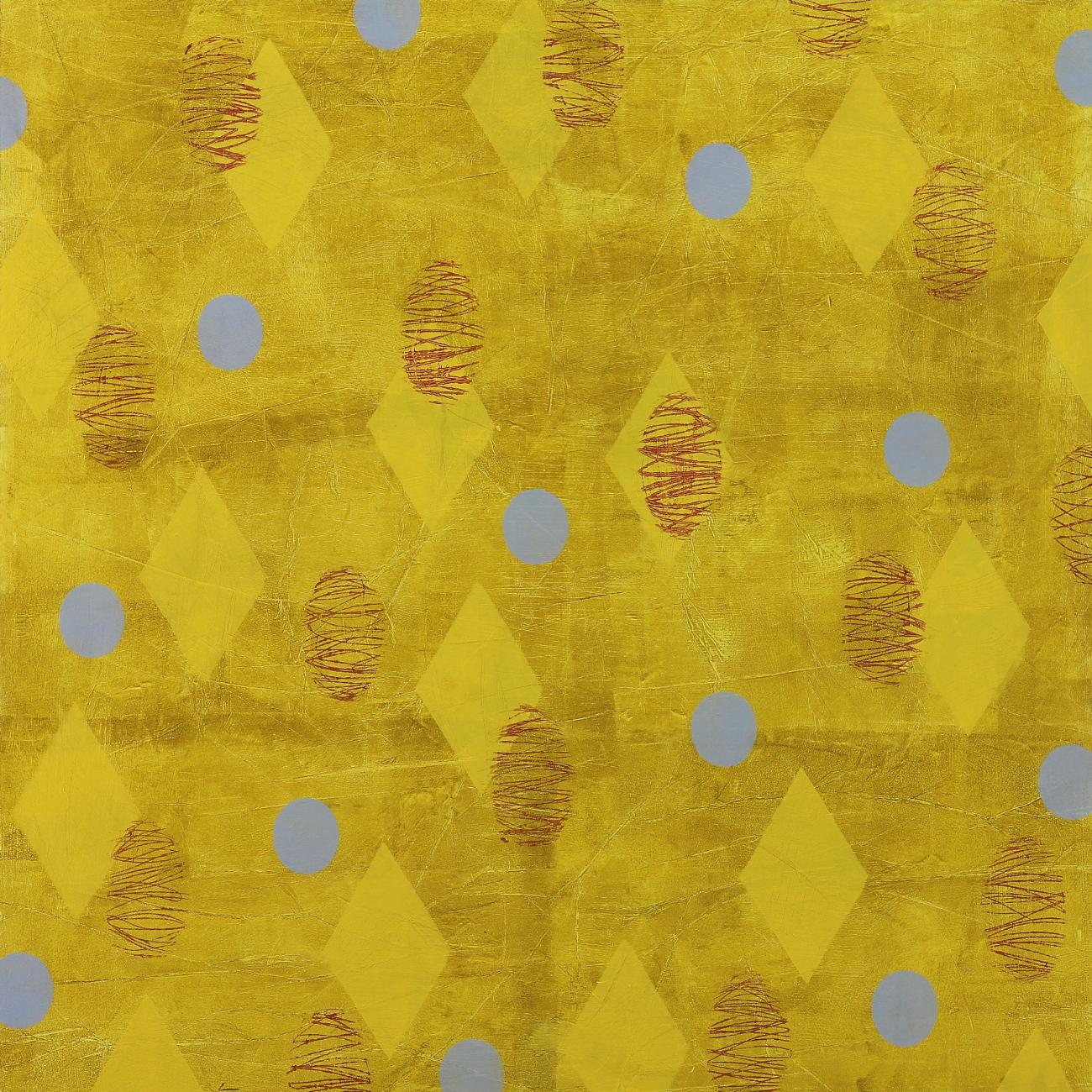 "Float #19, 2016, Oil, wax, mixed media on panel, 30 x 30"""
