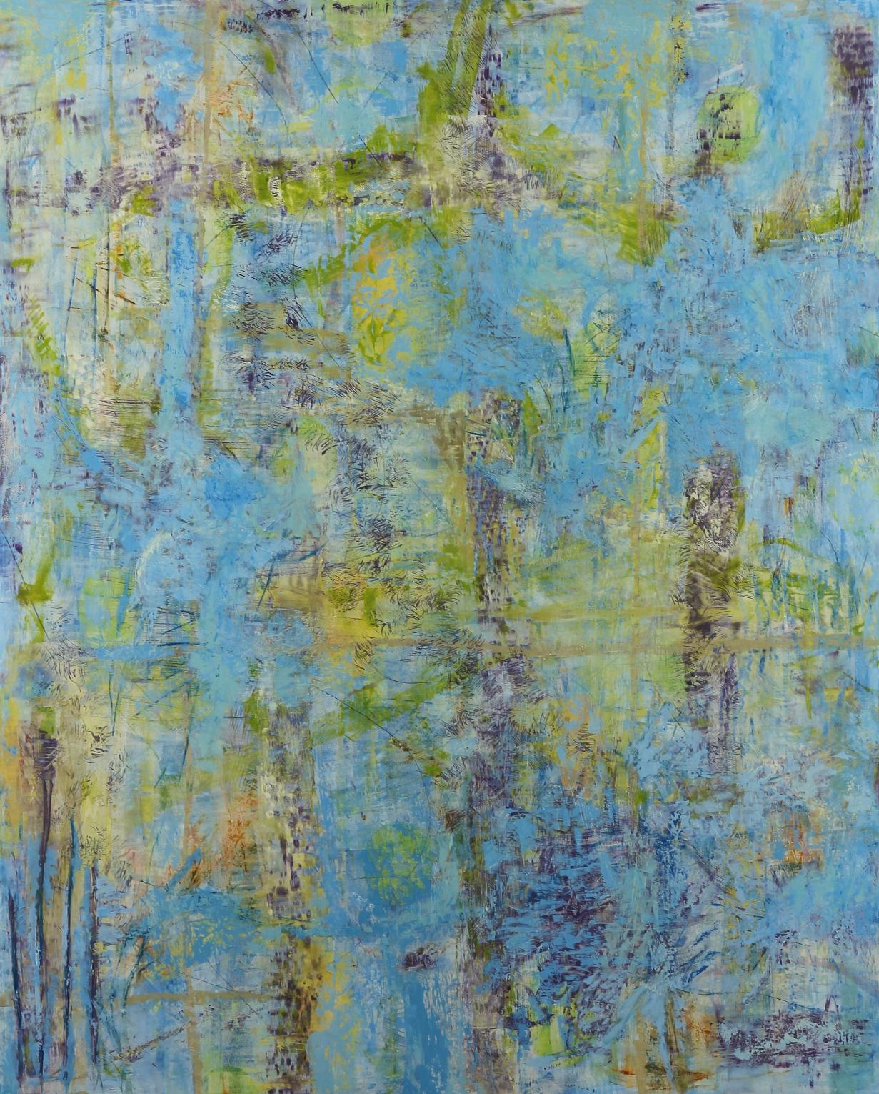 """Illumine #22, 2016, oil, wax, mixed media on panel, 60 x 48"""""""