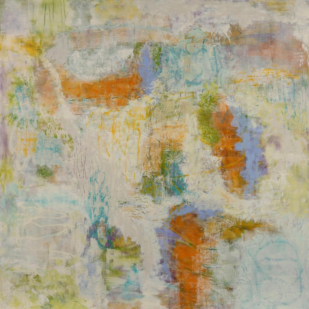 "Prospect #2, 2015, oil, wax, mixed media on panel, 36 x 36"""