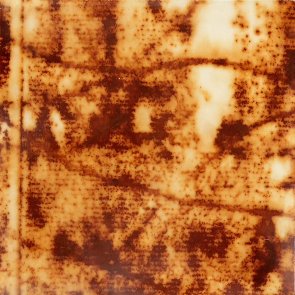 Rust #24, 2013, Rust, encaustic on paper on panel, 8 x 8""