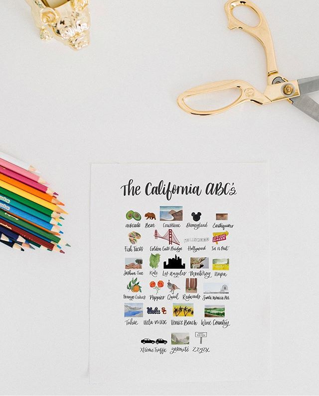 The California ABCs have been our top seller along with the Texas blue bonnet print! We are coming out with some new pieces just in time for Christmas shopping and Black Friday! What would you like to see in the shop? Photo: @papermoonphotography