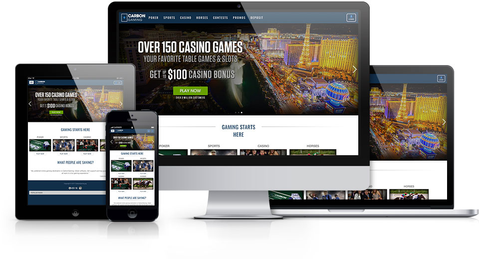 CarbonGaming.ag     is a popular online gaming site with both desktop and mobile facing software.