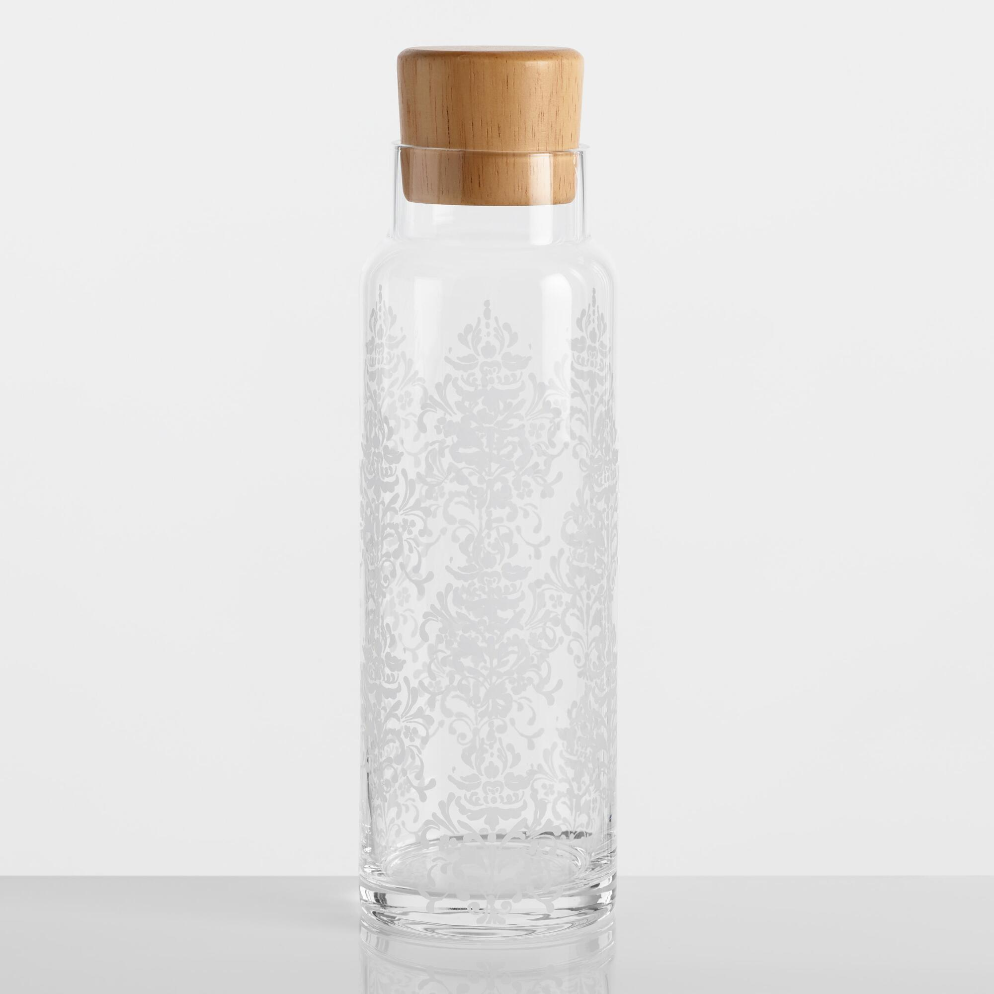 Sanctuary Glass Carafe with Wood Lid