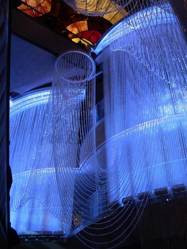 Five story chandelier in the Cosmopolitan Hotel