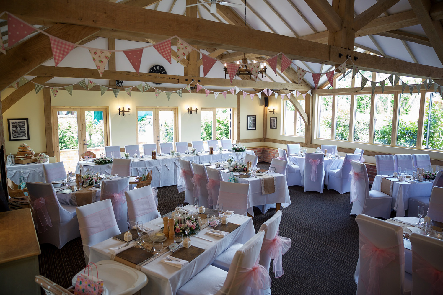 The Barn wedding venue at the Hare and Hounds Newbury, Berkshire