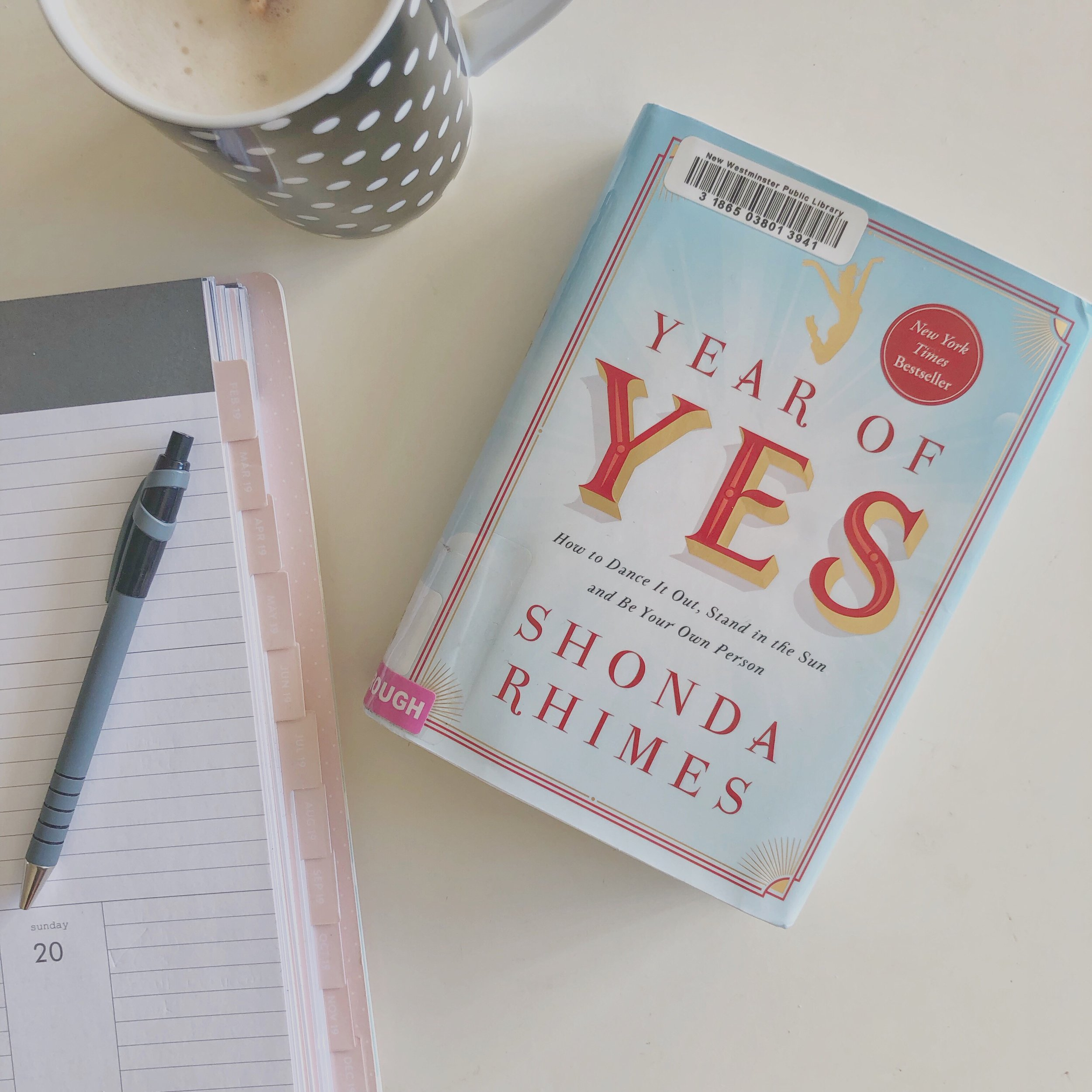 The Year of Yes Book List 2019