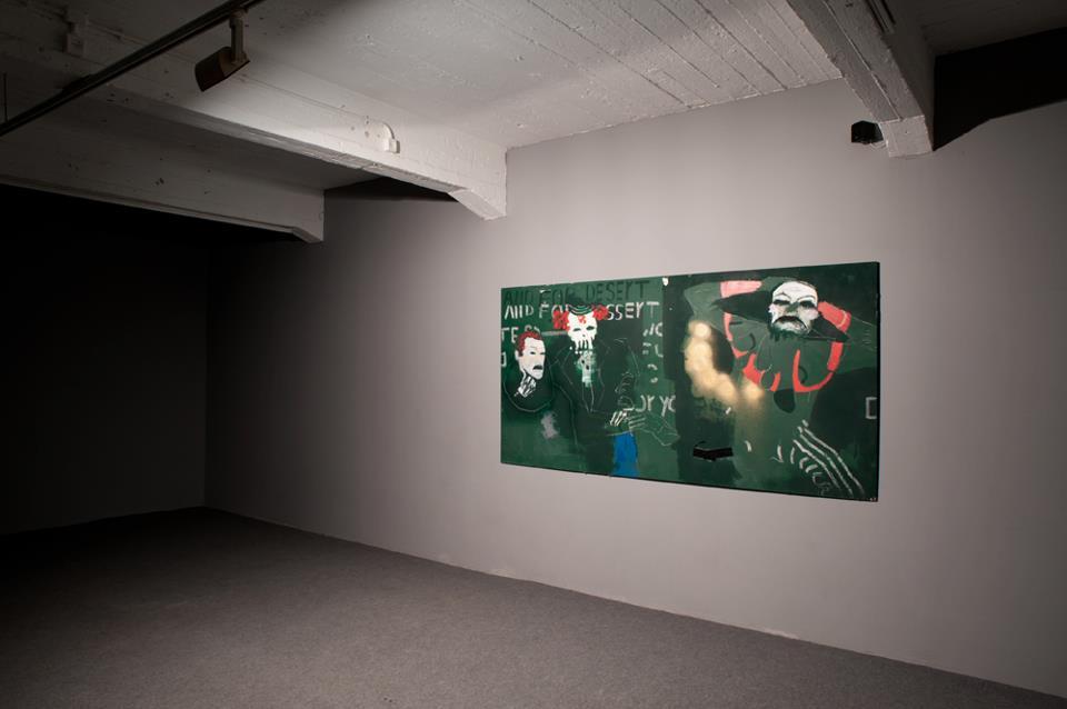 BAZOOKA CREAM, industrial color, acrylic, oil,spray and chalk on wood, 122x244cm 2012,SOLD