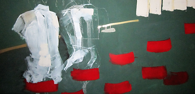 nocturnal, industrial color, spray, acrylic, jesso and spatula on wood. 122x244 cm. 2012. SOLD.