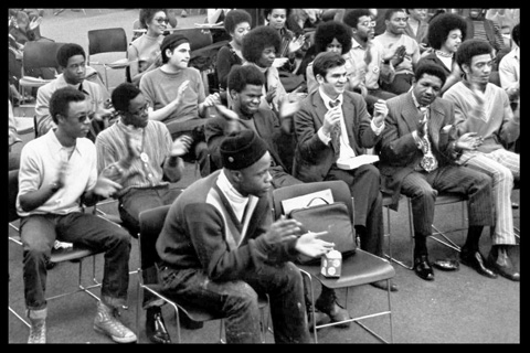 Hussein and Harlem Prep Students
