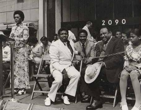 Famous musician Linol Hampton attending HP graduation 1973