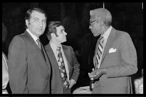 Hussein with Bayard Rustin, Advisor to MLK