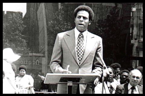 Carl McCall at Harlem Prep Graduation