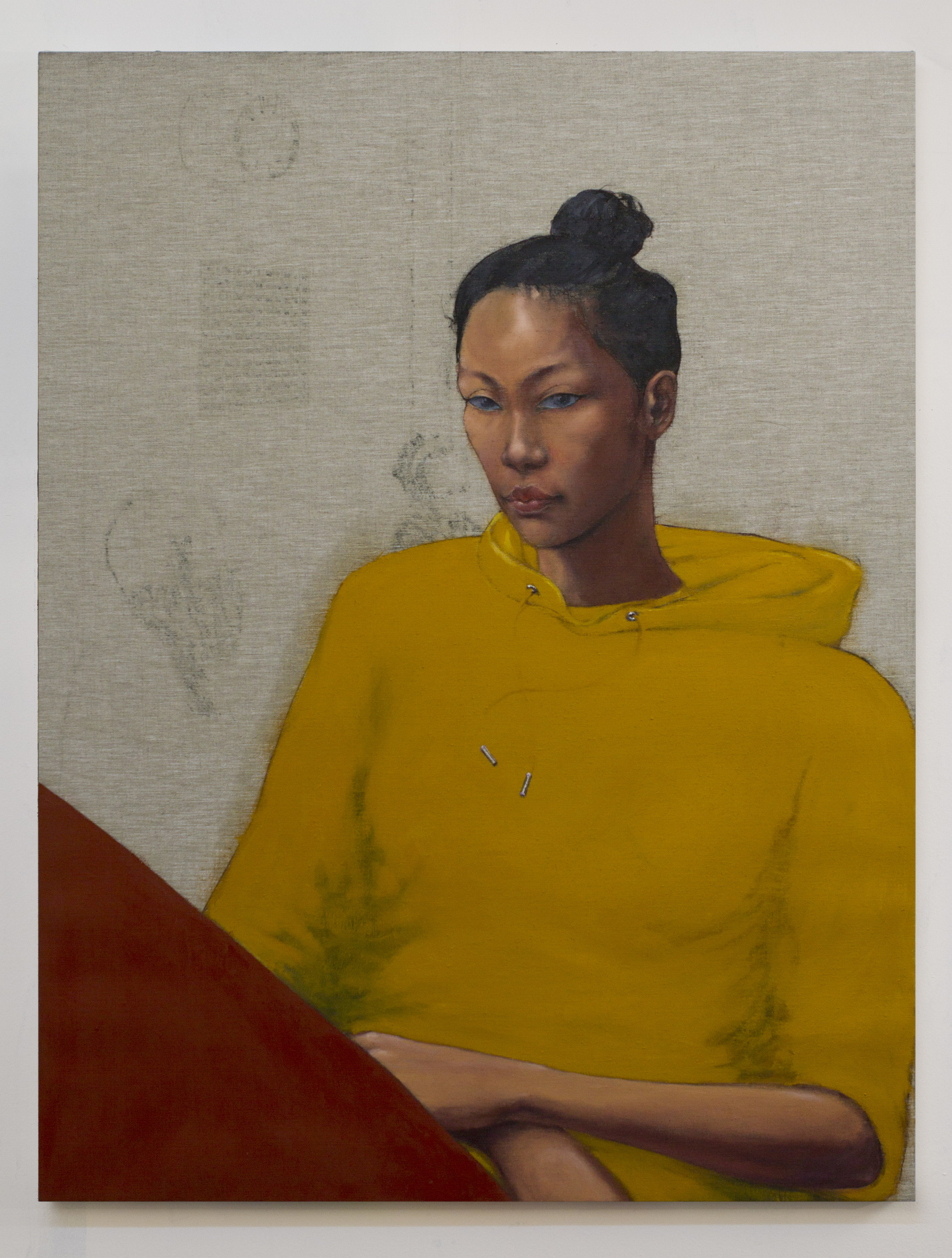 Study for Romana 2018 oil on linen 38 x 29 inches