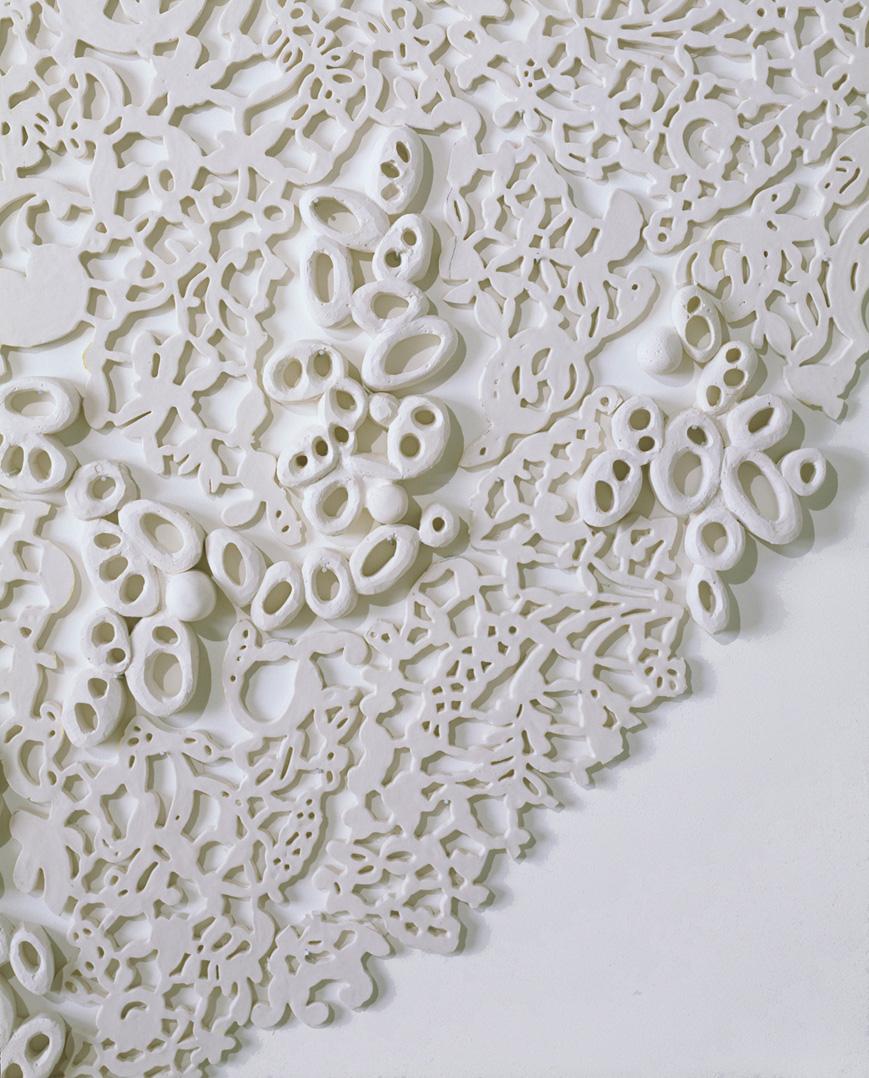 "Tondo II, 2006.  Cast Resin, 84"" diameter, detail"
