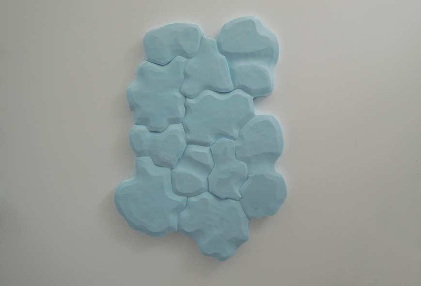 "Body of water, your body #3, 2013. Styrofoam, 44""h X 31""w X 2""d"
