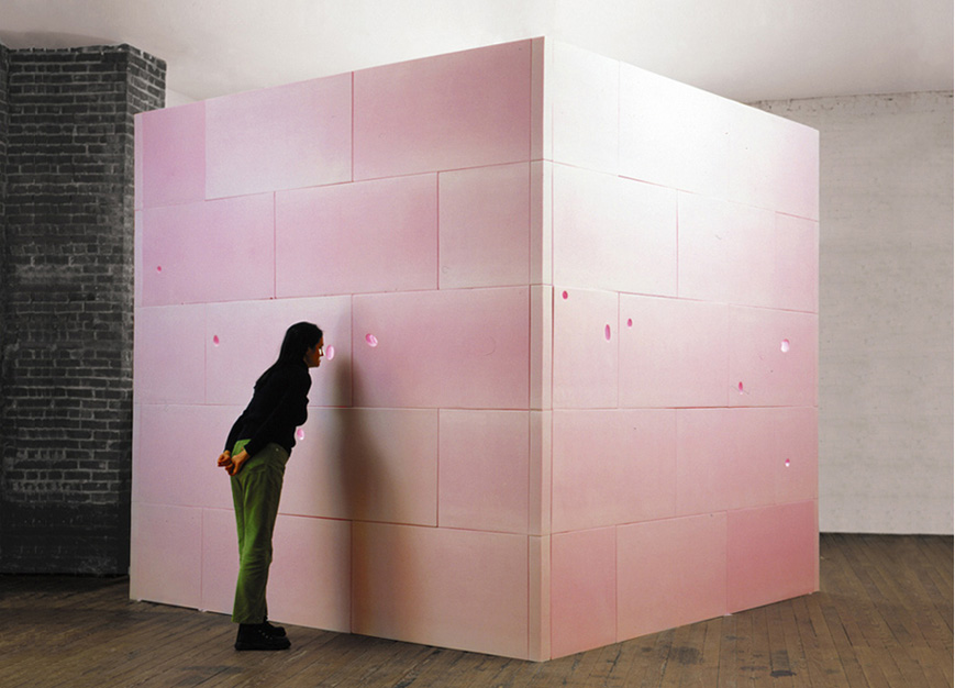 The Garden of Eden, 2002-2004.  Styrofoam, 10' x 10' x 10'.