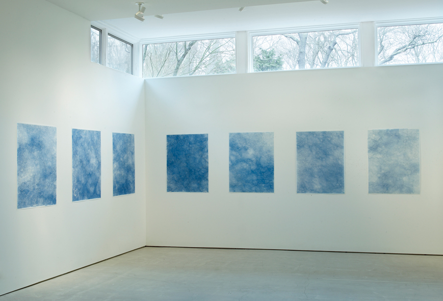 The Ocean, 2012-14.   Pencil on Velum, installation view.