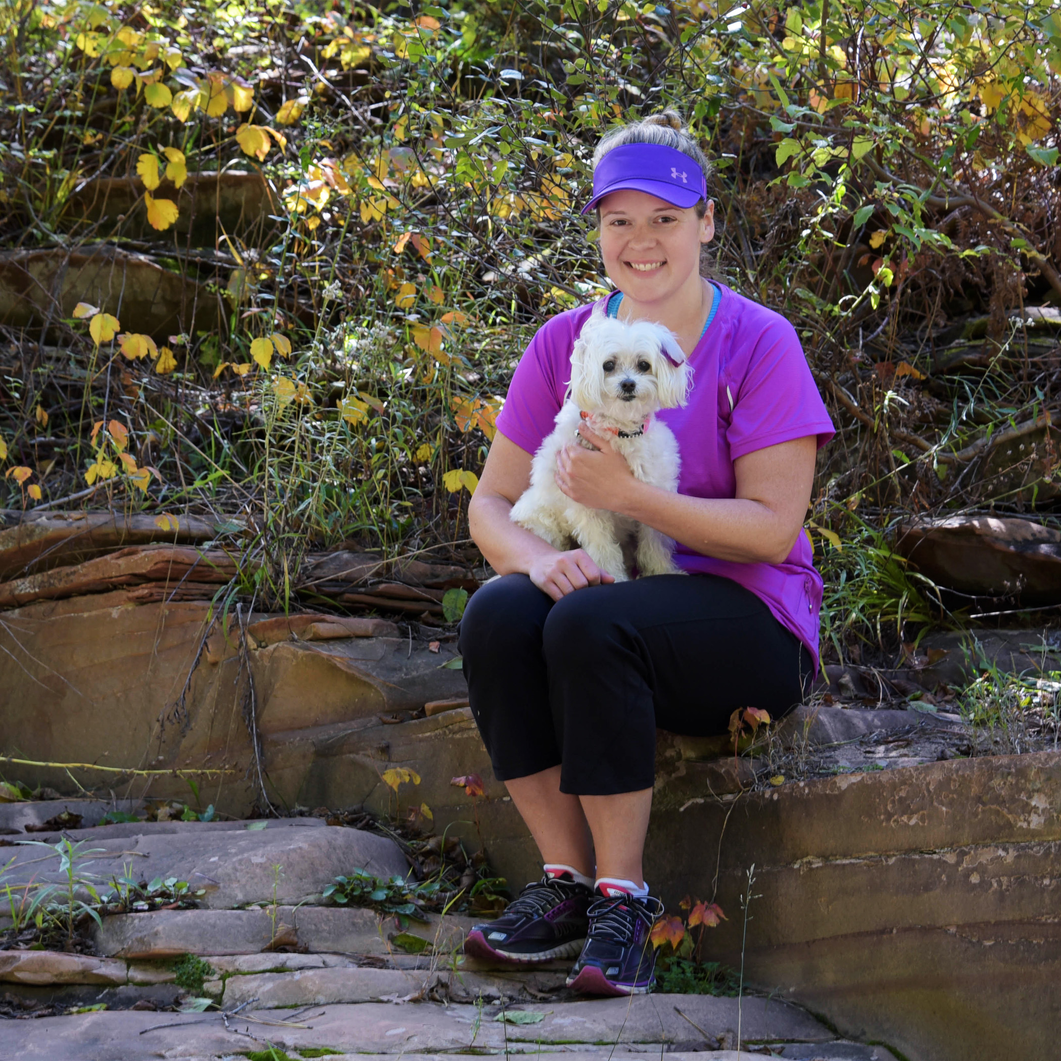 My BFF was an awesome hiker! She carried me over at least 8 different water hazards…and we both stayed dry!!