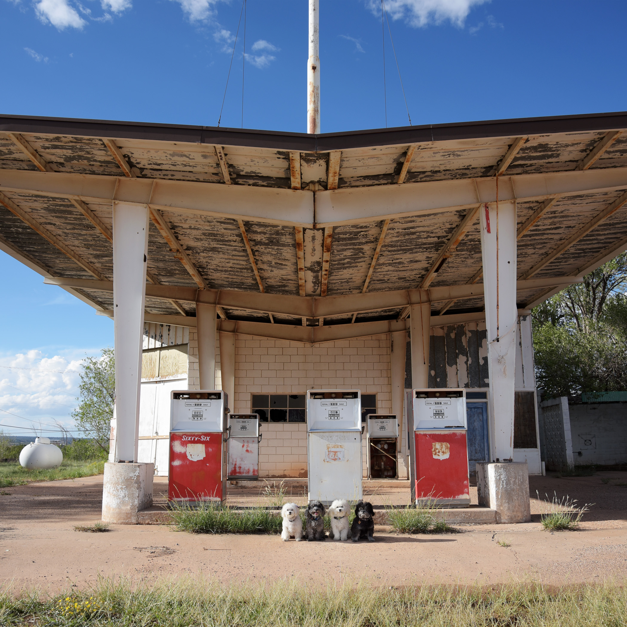 Santa Rosa, New Mexico on the Old Route 66…not sure Daddy's going to have success filling up at this gas station, but it would be a cheap fill up!