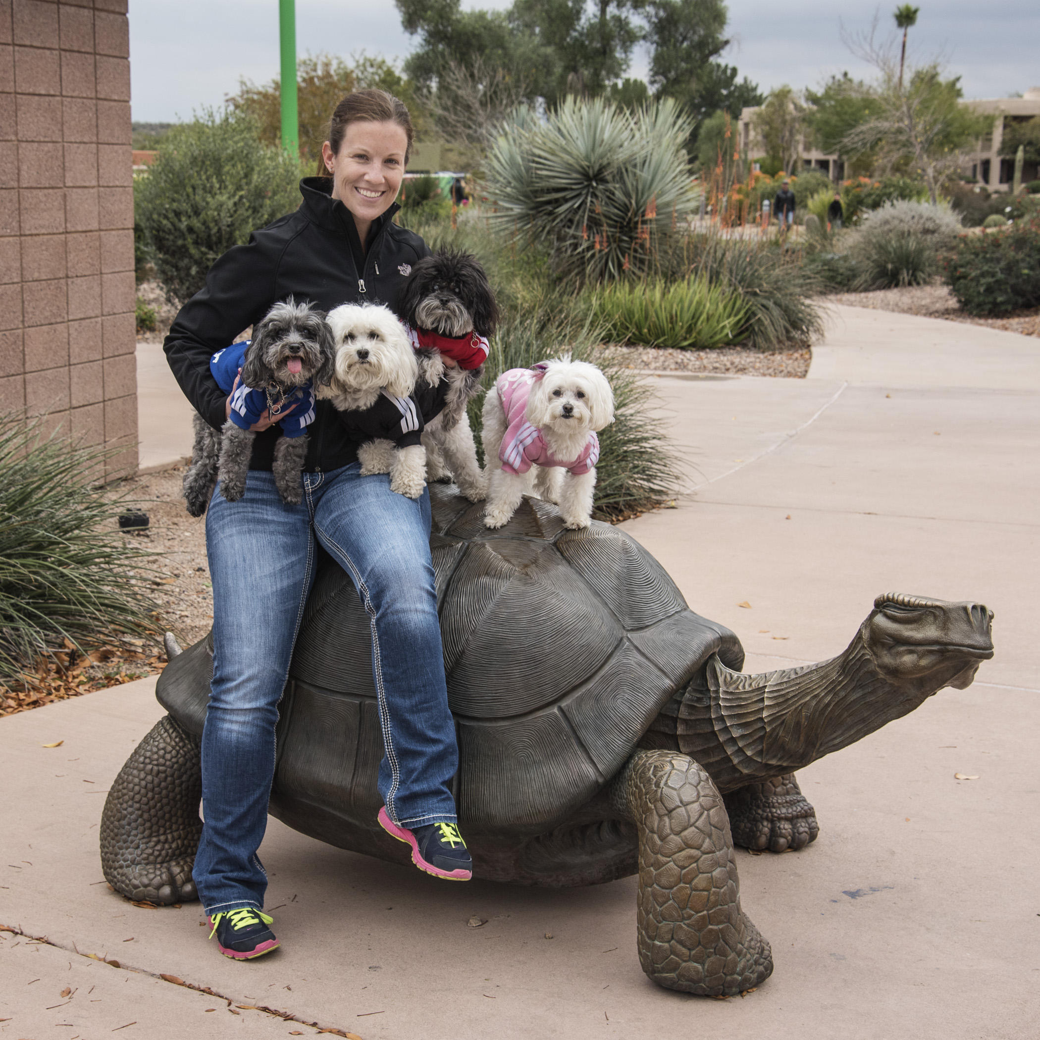 Have you ever rode on a turtle before? We can now say, we have. Thanks for the assist, Aunt Lori!