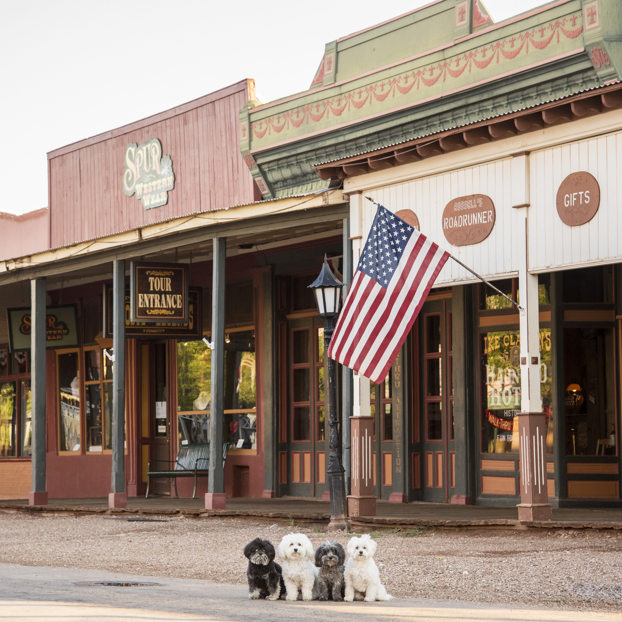 We left the extra-terrestrials behind, and strolled into Tombstone, AZ. Everyone scattered and hid…it was so quiet you could hear the clank of our spurs.