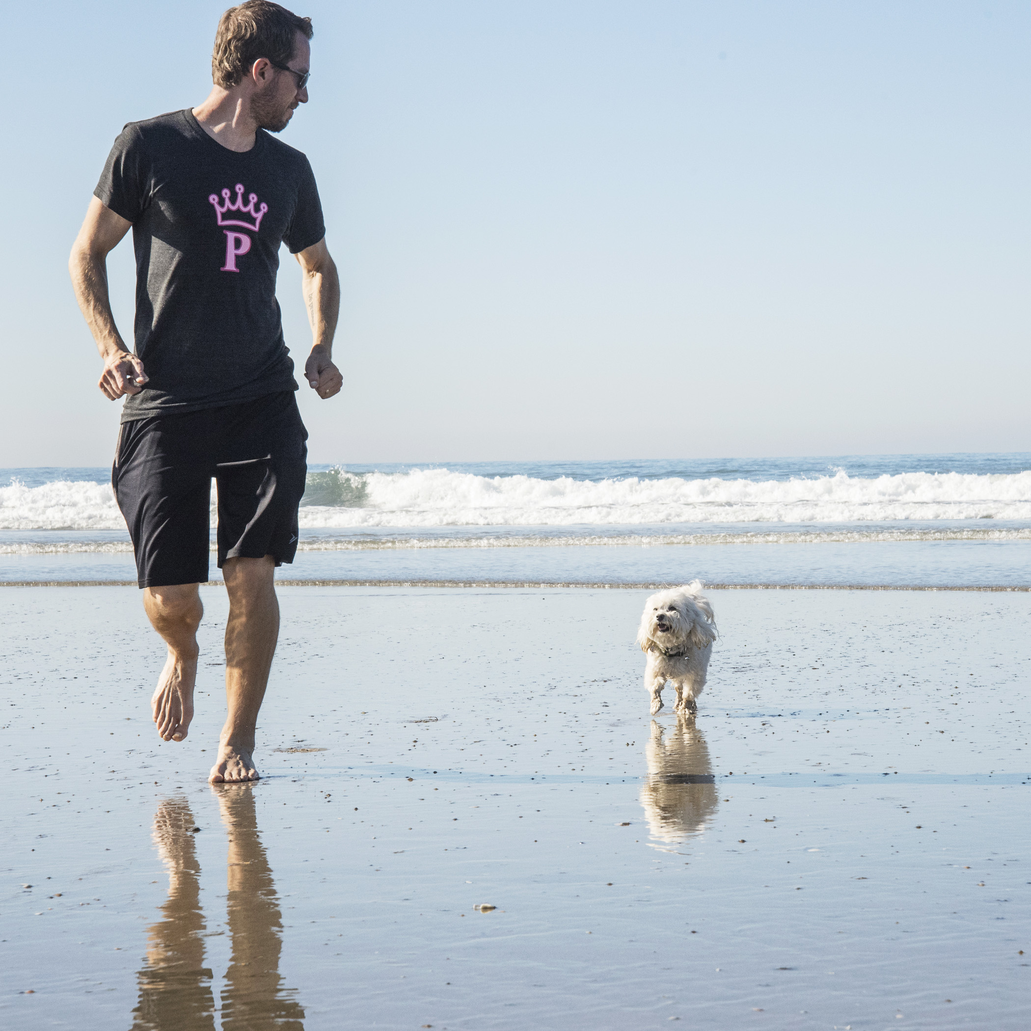 Exploring, playing, running, making friends…the beach is AWESOME!