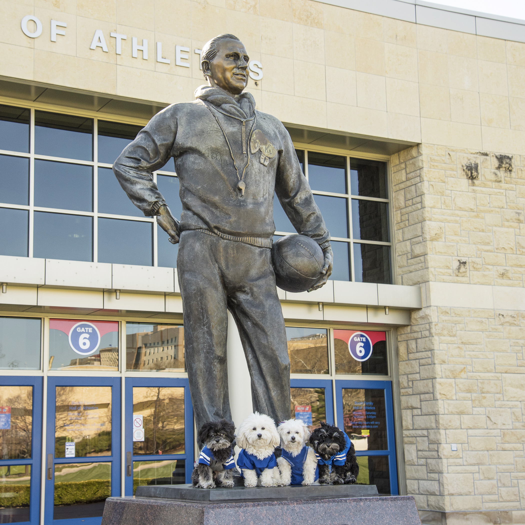 A statue of Phog Allen, who coached KU Basketball for 39 years!
