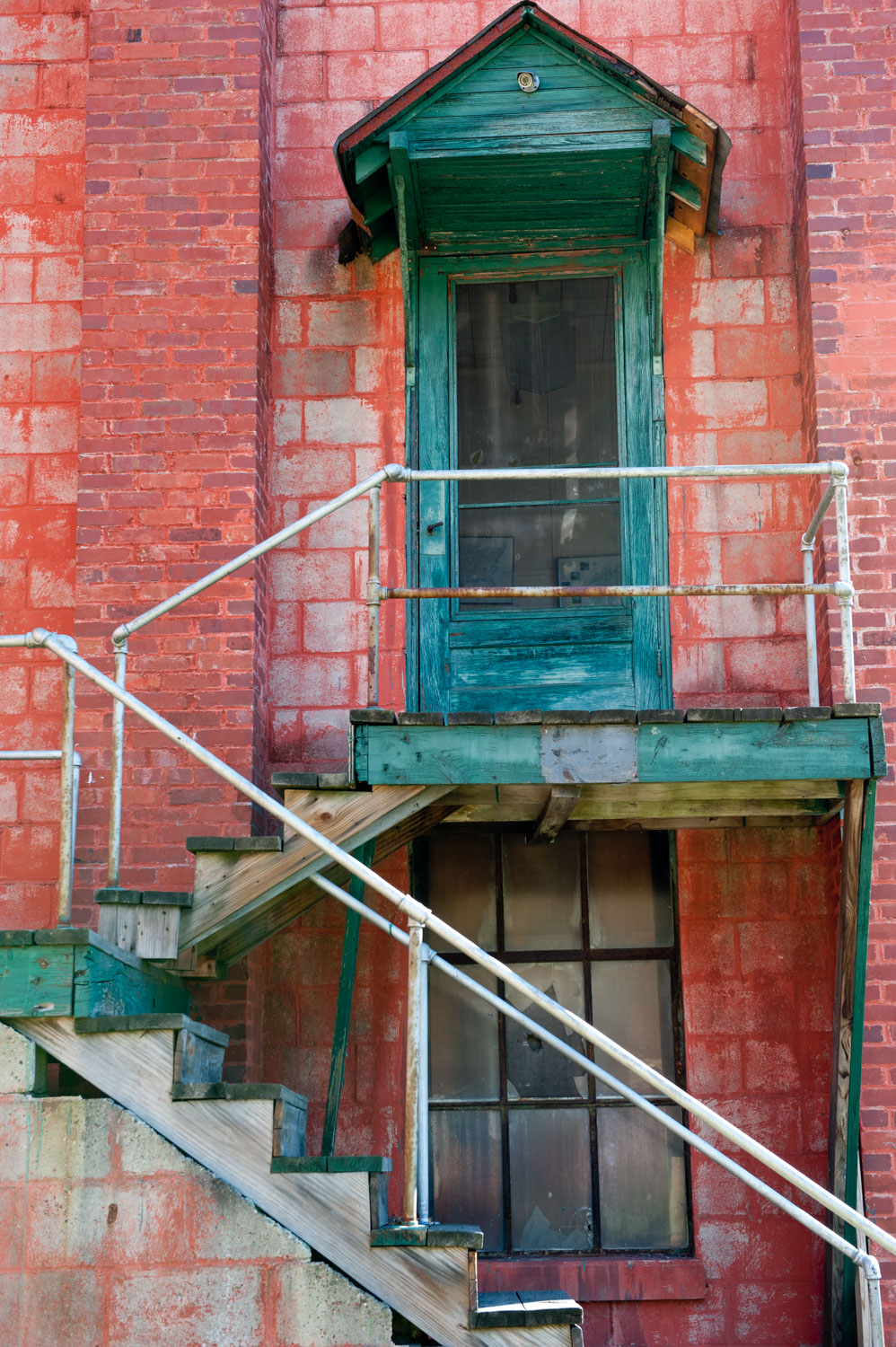 Abandoned Silk Mill_Boise Photographer_Green Door.jpg